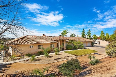 Valley Center Single Family Home For Sale: 19301 Paradise Mountain Rd