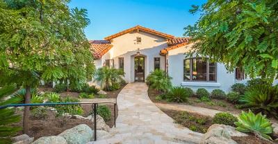 Rancho Santa Fe Single Family Home For Sale: 16655 Zumaque