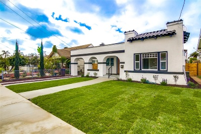 North Park, North Park - San Diego, North Park Bordering South Park, North Park, Kenningston, North Park/City Heights Single Family Home For Sale: 3536 29th St