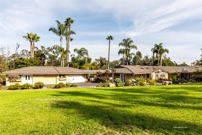San Diego County Single Family Home For Sale: 5329 La Glorieta