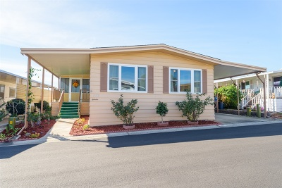 San Marcos Mobile/Manufactured For Sale: 650 S Rancho Santa Fe Rd #332