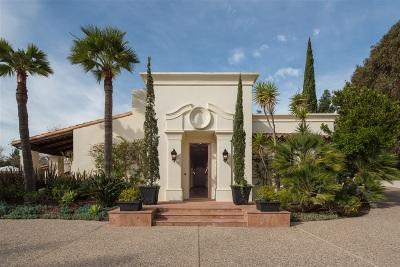 Rancho Santa Fe Single Family Home For Sale: 17222 Avenida De Acacias