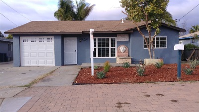 Escondido Single Family Home For Sale: 502 Adams Ave.