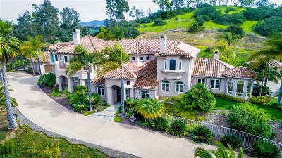 Rancho Santa Fe Single Family Home For Sale: 6700 Via Cordoba