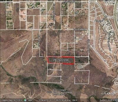 San Diego Residential Lots & Land For Sale: Artesian Trail #APN 267-