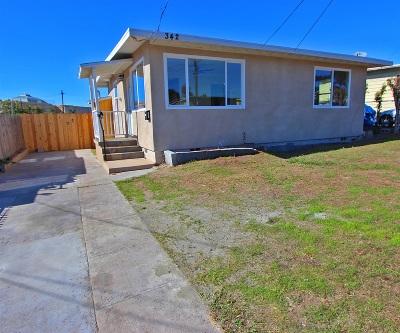San Diego Single Family Home For Sale: 342 Gavin St