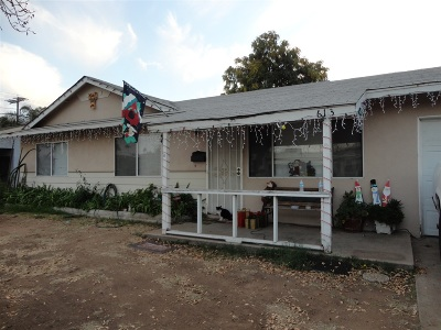 Escondido Single Family Home For Sale: 613 Aster St