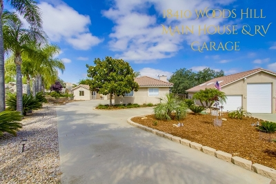 San Diego County Single Family Home For Sale: 18410 Woods Hill Lane