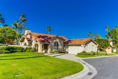 Rancho Santa Fe Single Family Home For Sale: 15460 Pimlico Corte