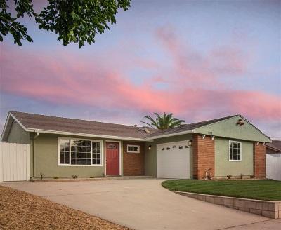 Vista Single Family Home For Sale: 759 Melrose Pl