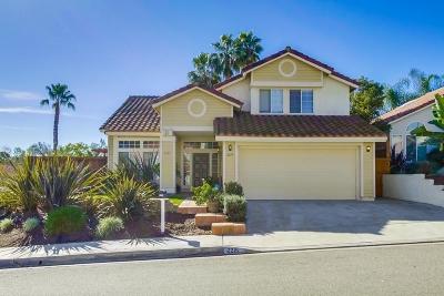 Escondido Single Family Home For Sale: 2215 Shadyridge Ave