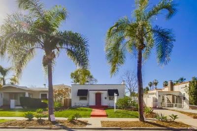San Diego Single Family Home For Sale: 4624 Marlborough Dr
