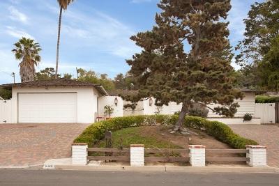 La Jolla Single Family Home For Sale: 6389 Castejon