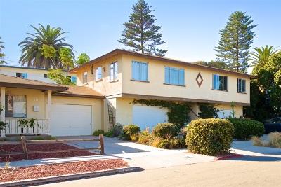 Solana Beach Single Family Home For Sale: 217-221 N Sierra