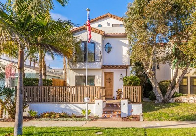 Pacific Beach, Mission Beach Single Family Home For Sale: 1056 Chalcedony