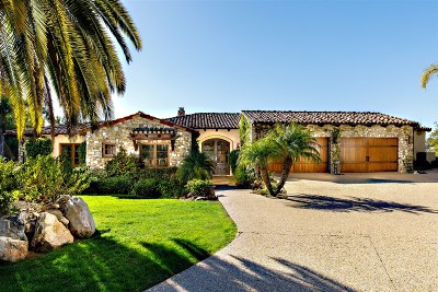 Rancho Santa Fe Single Family Home For Sale: 16566 Zumaque
