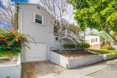 San Diego Single Family Home For Sale: 4540 Alamo Drive