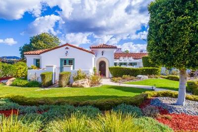 Rancho Santa Fe Single Family Home For Sale: 6160 Avenida Del Duque