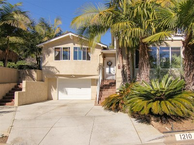San Diego Single Family Home For Sale: 1210 Clove