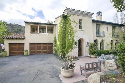 Rancho Santa Fe Single Family Home For Sale: 17963 Camino De La Mitra