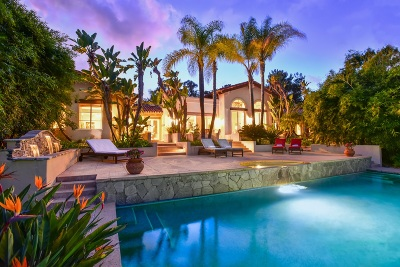 Rancho Santa Fe Single Family Home For Sale: 18054 Via De Fortuna