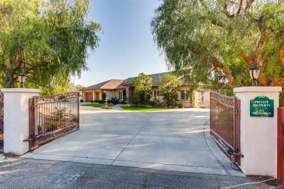 Fallbrook Single Family Home For Sale: 606 Via Cumbres