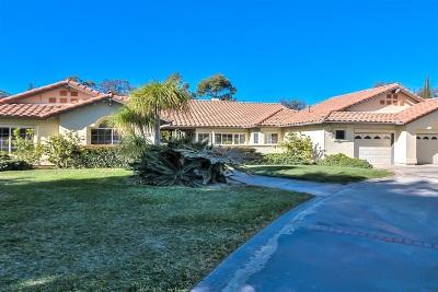 Poway Single Family Home For Sale: 15496 Mesquite Tree Trl