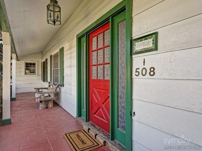 Coronado Single Family Home For Sale: 508 Glorietta Blvd