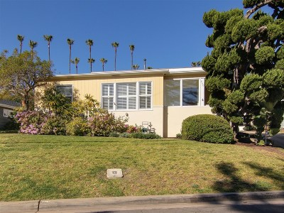 Sunset Cliffs Single Family Home For Sale: 860 Tarento