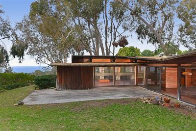 La Jolla Single Family Home For Sale: 7224 Carrizo Drive