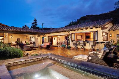 Rancho Santa Fe Single Family Home For Sale: 4631 La Orilla