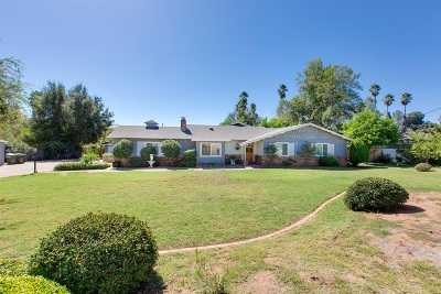 Escondido Single Family Home For Sale: 1730 Summit Dr