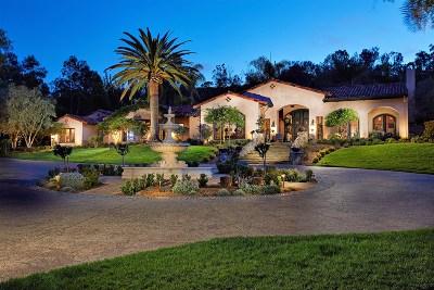 Rancho Santa Fe Single Family Home For Sale: 16250 Rambla De Las Flores