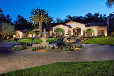Rancho Santa Fe CA Single Family Home For Sale: $7,750,000
