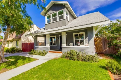 Normal Heights Single Family Home For Sale: 3136 Collier Ave
