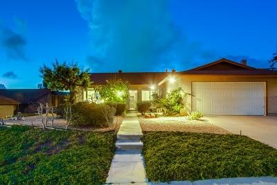 El Cajon Single Family Home For Sale: 2563 Windmill View Road