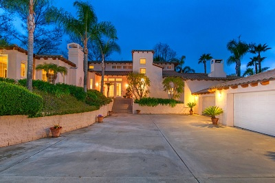 Poway Single Family Home For Sale: 13225 Stone Canyon Road