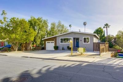 El Cajon Single Family Home For Sale: 2057 Dryden Rd