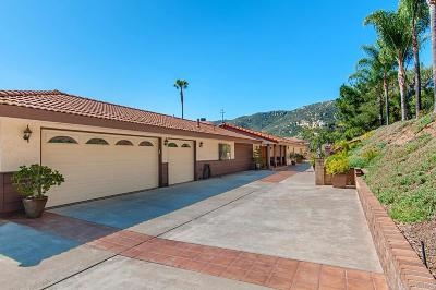 Single Family Home For Sale: 9958 Del Dios Hwy