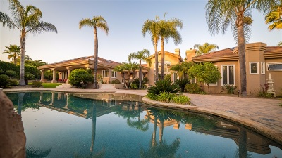 Rancho Santa Fe Single Family Home For Sale: 17350 Avenida Peregrina