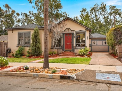 Kensington, Kensington Manor, Kensington Park, Kensington/Normal Heights Single Family Home For Sale: 4510 W Talmadge Dr