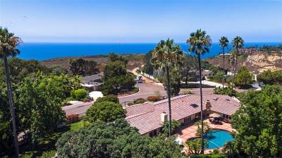 La Jolla Single Family Home For Sale: 9351 La Jolla Farms Road