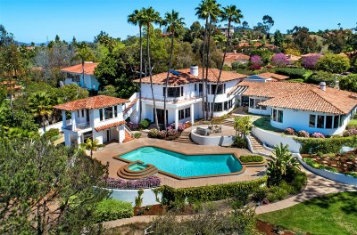 Rancho Santa Fe Single Family Home For Sale: 6881 Via Cuesta Mansa