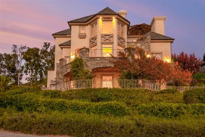Rancho Santa Fe Single Family Home For Sale: 6115 Clubhouse Drive