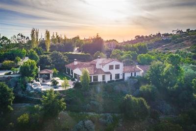 Rancho Santa Fe Single Family Home For Sale: 7929 Camino De La Dora