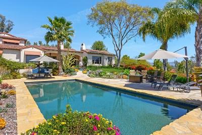 Rancho Santa Fe Single Family Home For Sale: 5435 Calzada Del Bosque
