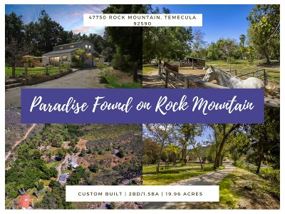Murrieta, Temecula Single Family Home For Sale: 47750 Rock Mountain