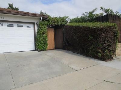 San Diego Single Family Home For Sale: 4980 Twain Ave.