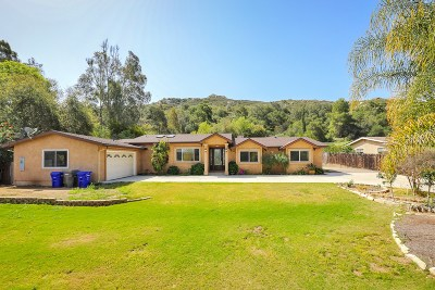 Poway Single Family Home For Sale: 12841 Stone Canyon Rd