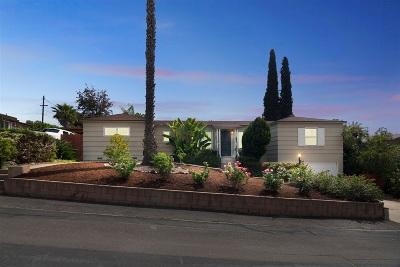 La Mesa Single Family Home For Sale: 7001 Neri D